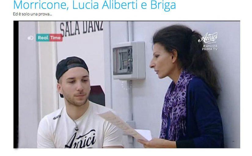 Lucia Aliberti con Mattia Briga ed Ennio Morricone Premio Oscar 2016.