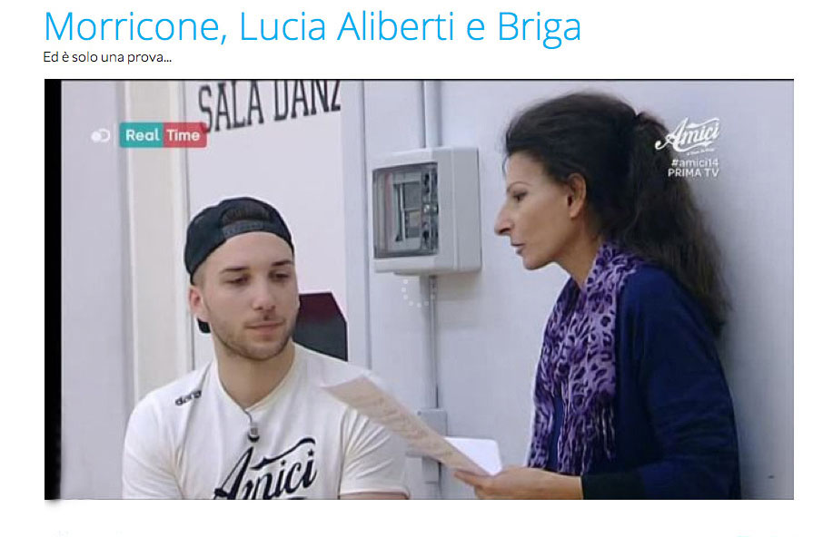 Web-Lucia Aliberti and Mattia Briga_Amici_,channel5 copia